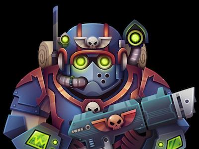 Scion character scion warhammer illustration
