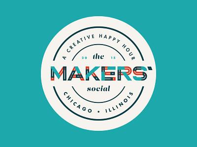 Makers' Social typography logo badge