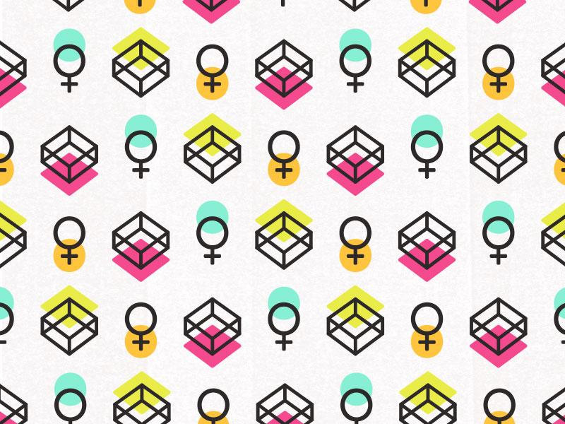 Box Pattern female box symbols vector pattern