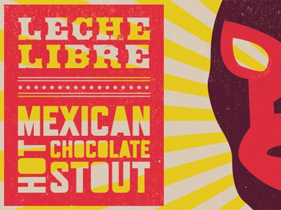 Leche Libre stout beer mexican typography beer label