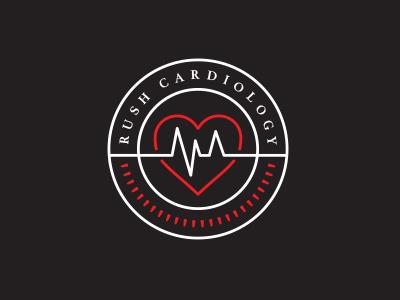 Rush Cardiology heart cardiology health medical badge