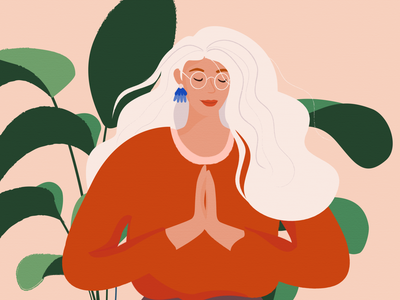 Make a wish smile woman web ux ui love fashion branding app design color flat vector illustrator illustration graphic character charachter