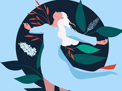 Spring season web woman ui ux love branding fashion design color flat vector illustrator illustration graphic character charachter