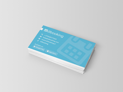 Albooking Card simple design business-card