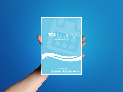 Allbooking Flyer company booking design flyer
