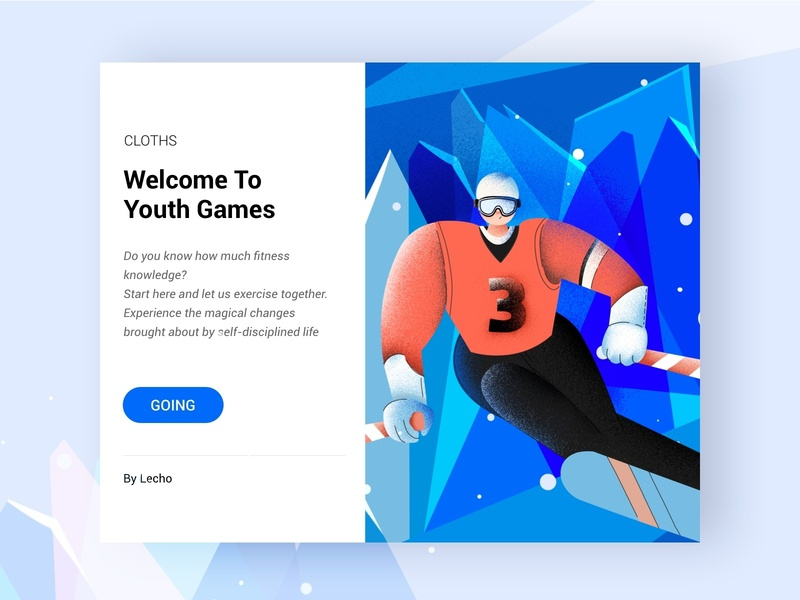 Welcome To Youth Games web ui design illustration 插图