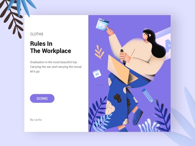 Rules In The Workplace web design ui 设计 插图