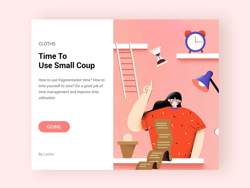 Time To  Use Small Coup web ui design 插图 设计 illustration