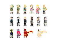 Pixel Characters - Video Games
