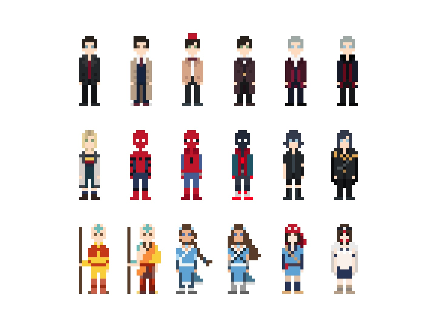 Pixel Characters - Games, Movies & TV Shows by Anaïs