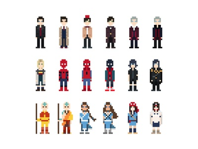 Pixel Characters - Games, Movies & TV Shows