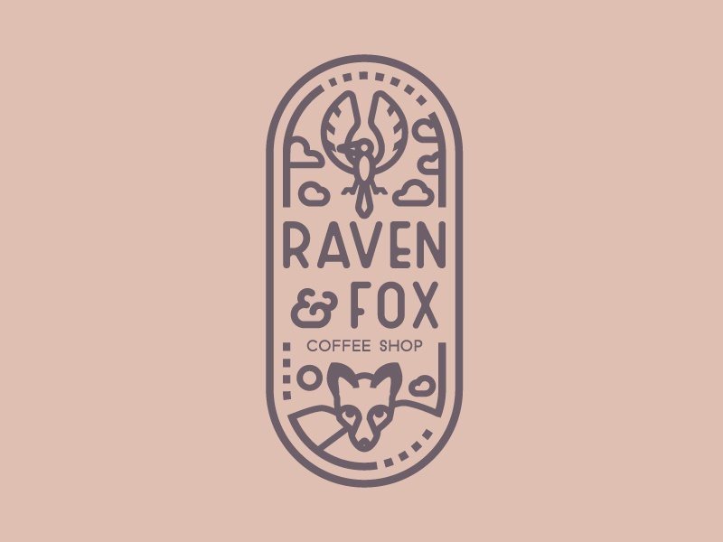 Coffee Shop // 50 Days, 50 Logos nature coffee shop coffee fox raven logo animal vector logo design concept logo design lettering typogaphy letter logo a day logo design graphism challenge branding