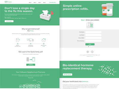 Gaetz Pharmacy Website healthcare ui web website pharmacy