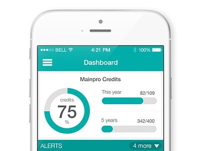 Dashboard app ios healthcare iphone ui