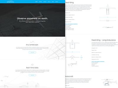 StrattaVU - Website Design helicopter plane specifications illustration web website drone uav