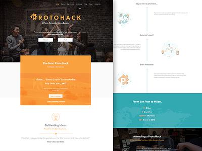 ProtoHack Website events hackathon meetup tech illustration website web