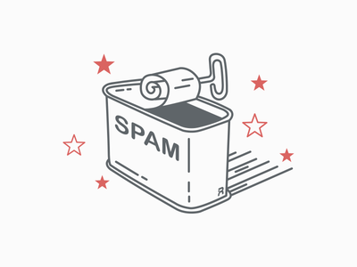 Spam isometric lineart food can spam illustration
