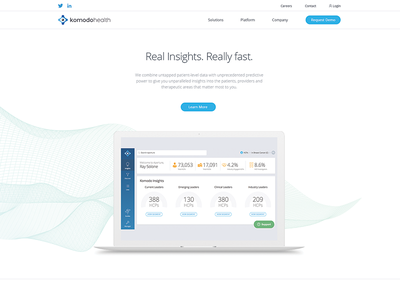 Komodo Health Homepage Design ui homepage web website doctors medical white clean ai data healthcare