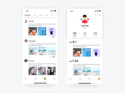 Discover & Me discover share social app social mobile app photo app ux ui