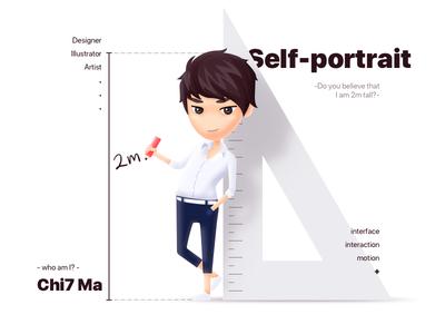 Self-portrait avator portrait texture illustrator sketch artist designer selfportrait illustartion art