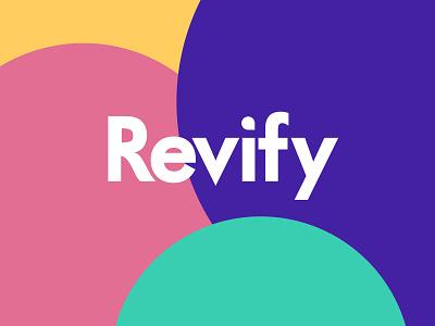 Revify Logo logo design app sass web app tool tech social proofing revify plugin colourful color fresh women female ecommerce platform beauty health