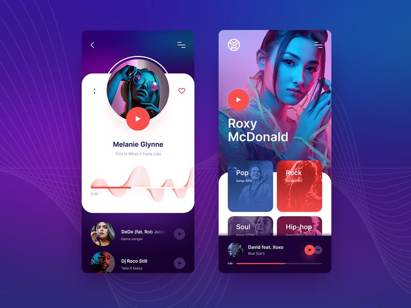 Music App Concept design app appmobile application ui ux design concept music app