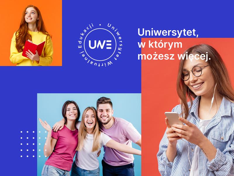 UWE - Virtual University branding logo ui layout design education university school