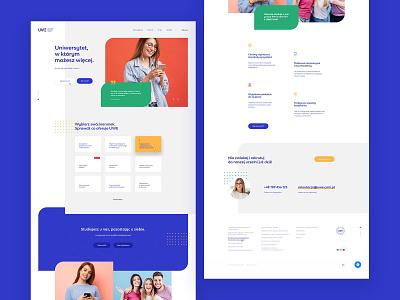 UWE - concept typography ui website webdesign logo education concept header layout design