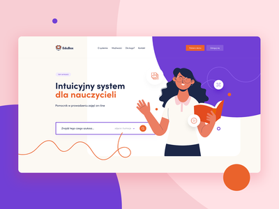 EduBox - concept concept webdesign design layout header website education illustration inspiration ui
