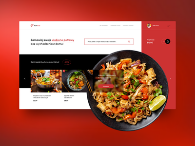 Fast Food online - concept header design layout restaurant dinner eat concept fast meal food