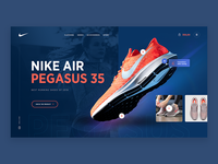 Nike Air Pegasus 35 - header concept