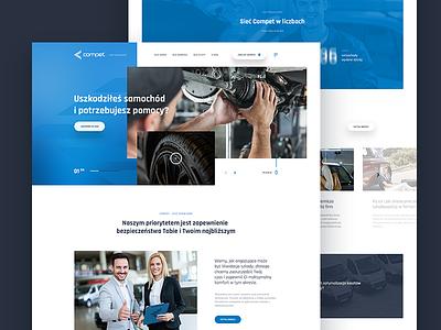 Compet - network of car services typography layout header car repair graphic webdesign design ux ui website web automotive design