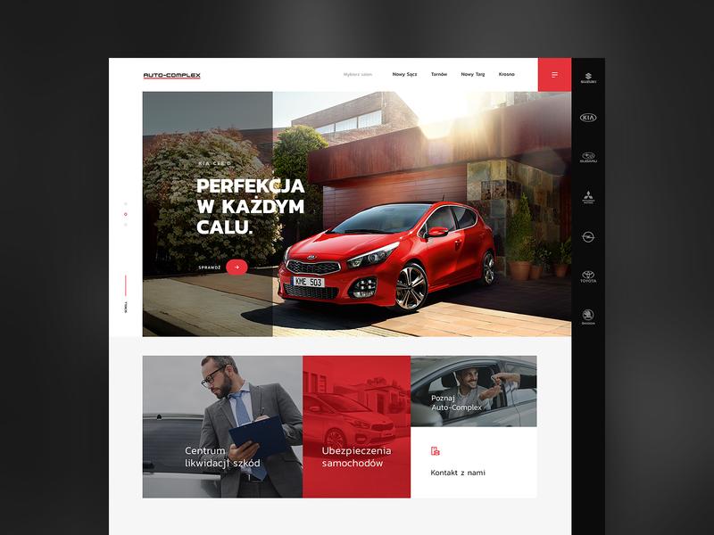 Car dealer - Auto Complex ui website product tools service layout dealer car design webdesign