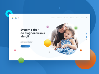 Faber - Diagnosis of allergies modern people concept webdesign website allergies header design layout system faber