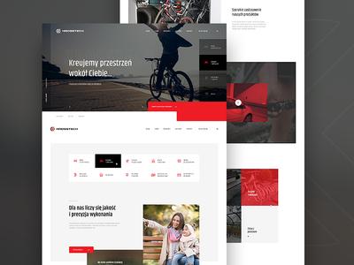 Krosstech - Street furniture & bicycle racks - Logo&Web bike ride activity family home car ux ui website layout bike design webdesign