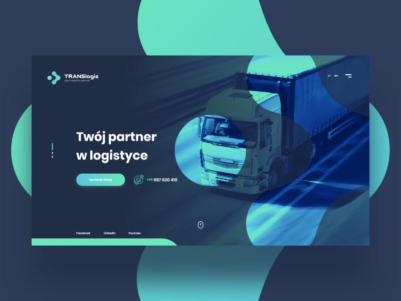TLS brand ux concept header design webdesign layout car brand truck logistic transport tls