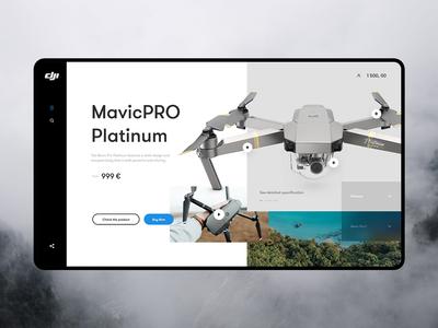 Drone   concept design website product concept header layout webdesign dron drone