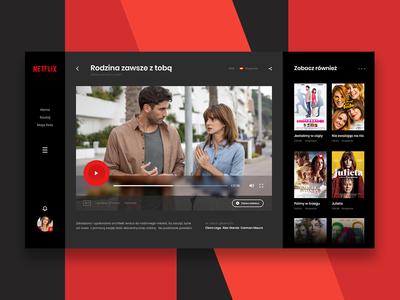 Netflix concept ux ui website header webdesign inspiration redesign layout netflix concept