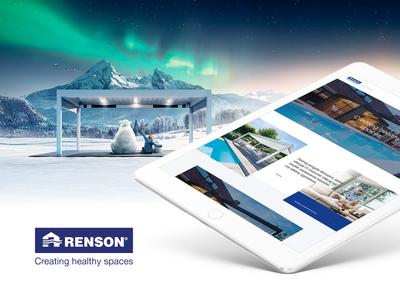 Renson - ambassador home ui design product header website concept layout webdesign