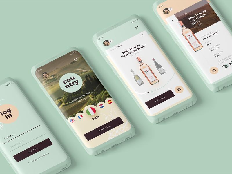 Wine app concept alcohol mobile app concept product wine ux mobile app