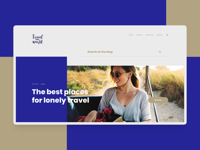 Travel blog header layout design blog travel