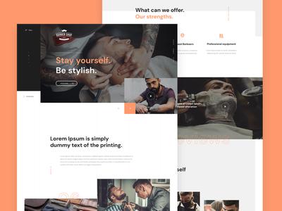 Barber Shop concept header layout design barbershop barber