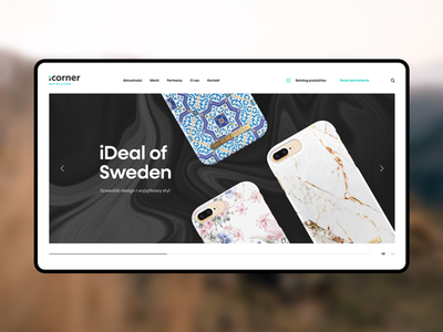 iCorner website webdesign header layout design accesories mobile