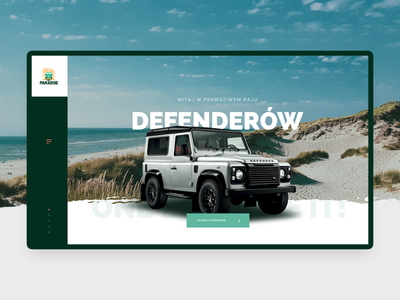 Def Paradise product header layout webdesign design landrover defender cars