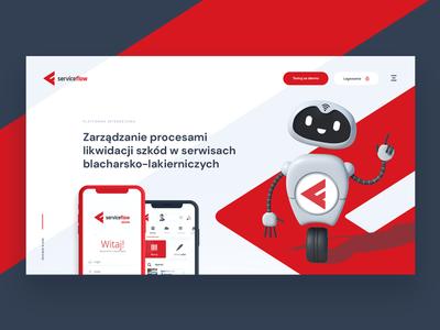 Service Flow brandhero webdesign header design layout flowek app serviceflow