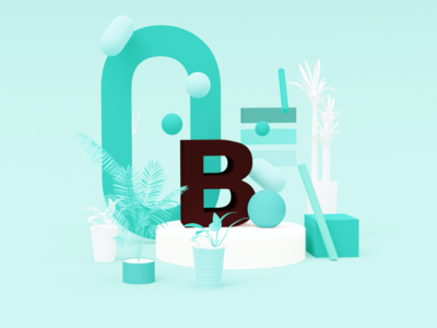 3D Illustration for Branding Concept