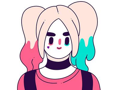 Harley Quinn characterdesign cute illustration cute adorable adorable illustration inspiration illustraion illustrator harley quinn