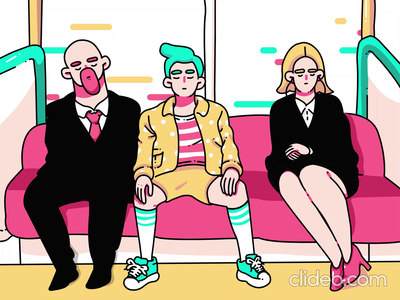 Tokyo Trip funny funny animation cute illustration metro illustration metro train illustration train adorable animation cute animation 2d animation animation
