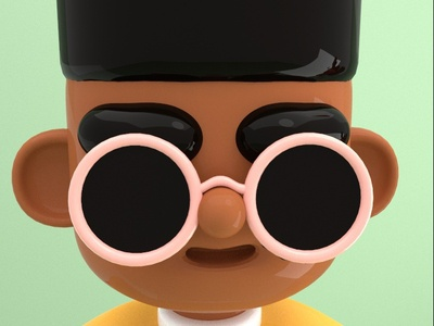 Bobby Glasses 3d branding creative design adorable cute character cinema4d 3d artwork 3d art character illustration character design 3d illustration