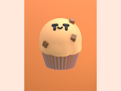 Chocolate Chip Muffin character design characterdesign food 3d illustration food illustration food art food 3d food